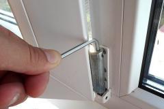 Adjustment of the PVC windows