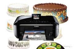 Печать на вафельной бумаге