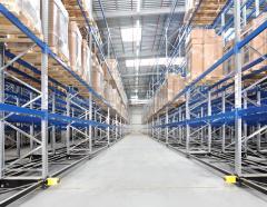 Оснащение складов оборудованием стеллажным