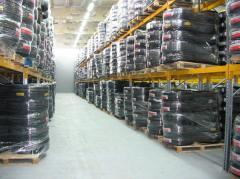 Getting the cargo in indoor warehouse, to open