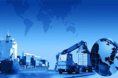 Trans-shipment of cargo from one type of transport