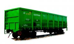 Delivery of sand by railway transport