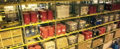 Services of warehouses for storage of dangerous,