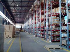 Services of warehouses with working platforms and