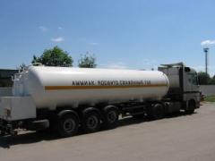 Services in transportation of ammonia