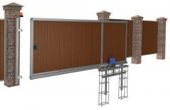 Installation of sliding gate