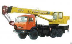 Услуга аренды автокрана КамАЗ Галичанин 25 тонн