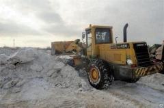 Работа по уборке снега