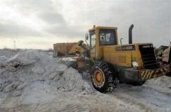 Работы по уборке и вывозу снега