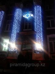 Новогоднее оформление зданий в Алматы, арт. 38335588