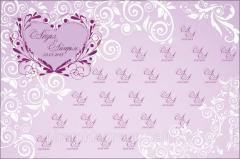 Дизайн пресс стены на свадьбу, арт. 12070965