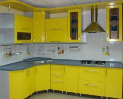 Изготовление кухонной мебели из акрила
