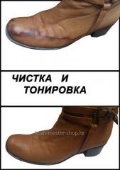 Чистка обуви (из гладких кож )
