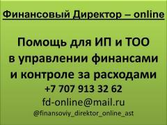 Финансовый консалтинг. Помощь для ИП и ТОО в управлении финансами и контроле за расходами.