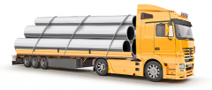 Доставка металлопроката автотранспортом