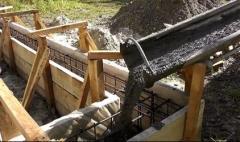 Заливка фундамента в Актау