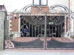 Кованые ворота в Актау