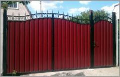 Ворота обшитые профлистом в Актау