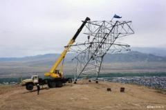 Монтаж опор линий электропередач в Актау