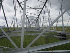 Изготовление металлических опор линий электропередач в Актау