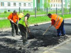 Латочный ремонт дороги в Актау