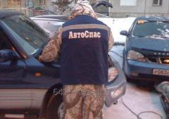 Отогрев машины в мороз тепловой пушкой. Астана. Пригород.