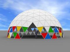 Изготовление макетов каркасно-тентовых палаток,