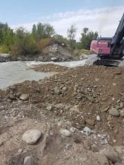 Ликвидация последствий чрезвычайных ситуаций природного характера: неотложные аварийно-восстановительные работы на канализационном коллекторе города Талгар