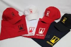 Нанесение логотипа на футболки, бейсболки