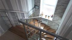 Монтаж  ограждений для лестниц
