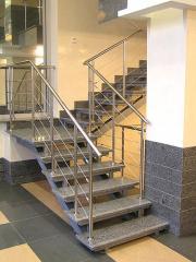 Проектирование, изготовление  ограждений для лестниц