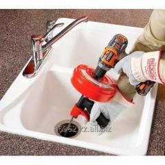 Прочистка канализации. Прочистить тросом канализацию. Вызвать сантехника