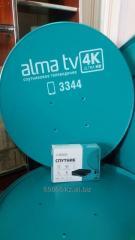 Установка спутникового телевидения alma tv (алма тв)