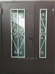 Дверь двустворчатая с окном