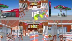 Дизайн интерьера АЗС, магазинов, кафе, баров, гостиниц.