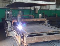 Раскрой листового металла на установке плазменной резки с ЧПУ