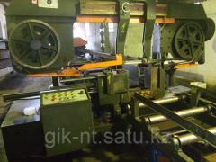 Резка фасонного металлопроката ленточной пилой