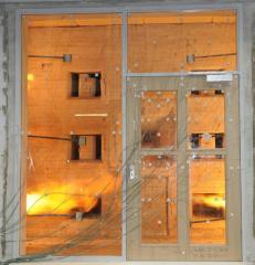 Определение предела огнестойкости противопожарных дверей, ворот и перегородок