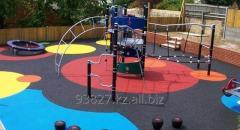 Резиновое, травмобезопасное покрытие для детских и спорт площадках