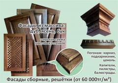 Изготовление мебельных фасадов из массива древесных пород: дуба, ясеня, бука