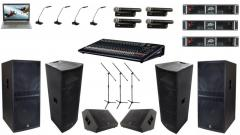 Аренда оборудования конференц-системы и звукового усиления для пресс-конференции и презентаций