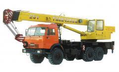 Услуги автокрана КамАЗ Галичанин 25 тонн