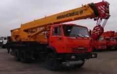 Услуги автокрана КамАЗ Ивановец 25 тонн