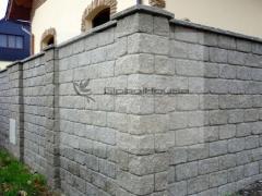 Качественное строительство заборов из бетонита, пескоблока