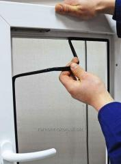 Замена резины на окнах и дверях