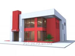 Эскизный проект для кафе и административных зданий