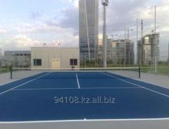 Спортивное покрытие теннисных кортов в Казахстане