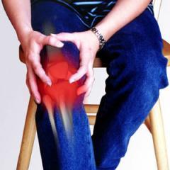 Остеопатия   от боли и опухлости колена