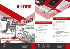 Печать визиток, листовок, буклетов, припресс, ламинирование, широкоформатная печать, сканирование, брендирование