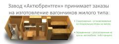 Изготовление вагончиков жилого типа